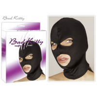 BAD KITTY HEAD MASK W. EYES - BLACK