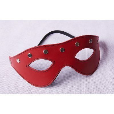 LEATHER MASK - RED