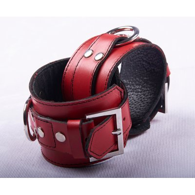 LEATHER HANCUFFS - RED