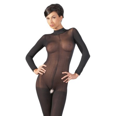 CATSUIT W. LACE COLLAR