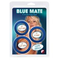 Δακτυλιοι Πεους - BLUE COCKRINGS - SET 3 PCS