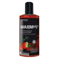 Warm Up Θερμαντικό-Βρώσιμο Λάδι Μασάζ Φράουλα | Aroma Sex Shop