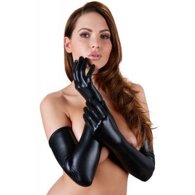 Γάντια Μακριά - Wet Look | Aroma Sex Shop