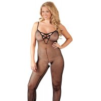 FISHNET CATSUIT - BLACK