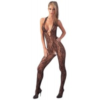 CATSUIT W. PEARLS - BLACK