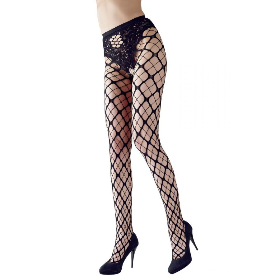 NET TIGHTS - BLACK
