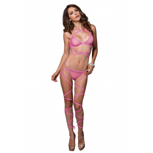WRAP AROUND FISHNET PINK