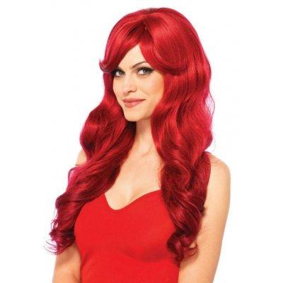 Κόκκινη Περούκα - Μακριά Κυμματιστή