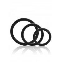 Δακτύλιοι πέους - 3 BLACK SILICONE RINGS