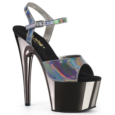 PLEASER SHOES | ADORE 709 PEWTER HOLOGRAM