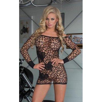 Διχτυωτό Φόρεμα Μαύρο Sweetheart