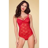 RED LACE TEDDY